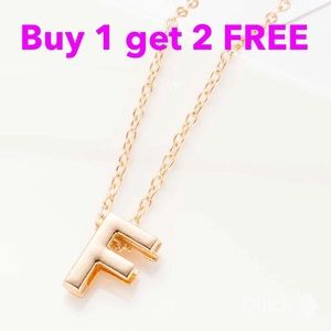 Jewelry - DIY letter initial name F necklace